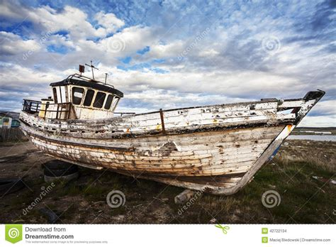 boat salvage yards nd old boat on junk yard stock photo image of desert