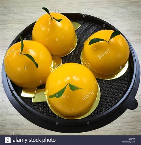 new year gift oranges happy new year gift orange cake stockfoto