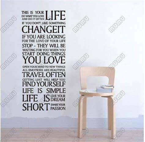 Living Room Word Wall Lettering This Is Your Words Quote Bedroom Living