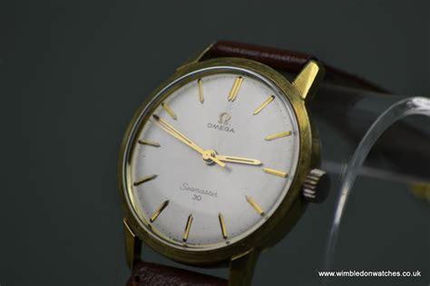 vintage mens omega seamaster 30 gold with original