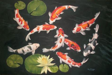 Lukisan Koi 2 dunia lukisan javadesindo gallery gt gt pesona lukisan 9 ikan koi dalam karya seni tinggi