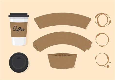 coffee cup sleeve template vector coffee sleeve free vector stock