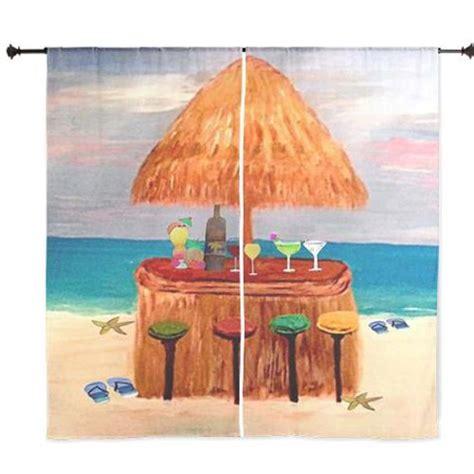 tiki curtains beach tiki bar shear curtains from my art 30 x 84