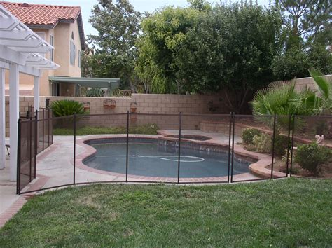 backyard pool fence ideas mesh pool fence vs rod iron pool fencing