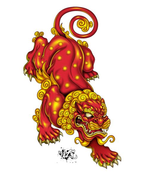 japanese lion tattoo designs on