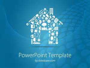 real estate powerpoint templates house shape powerpoint template slidesbase