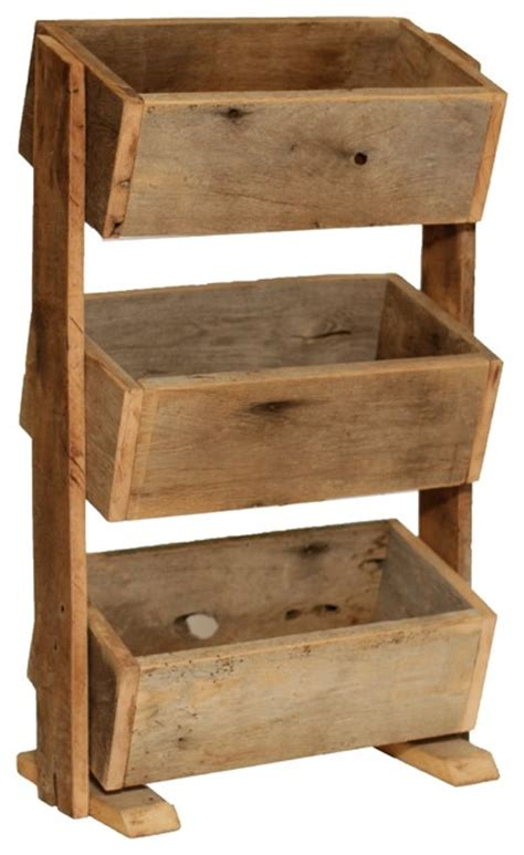 Stacked Planter Boxes by Rustic Herb Stacked Planter Boxes Rustic Indoor Pots