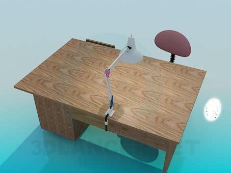 scrivania 3d 3d modello scrivania in legno stile classicismo scarica
