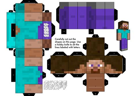 Steve Papercraft - minecraft paper craft paper crafts ideas for