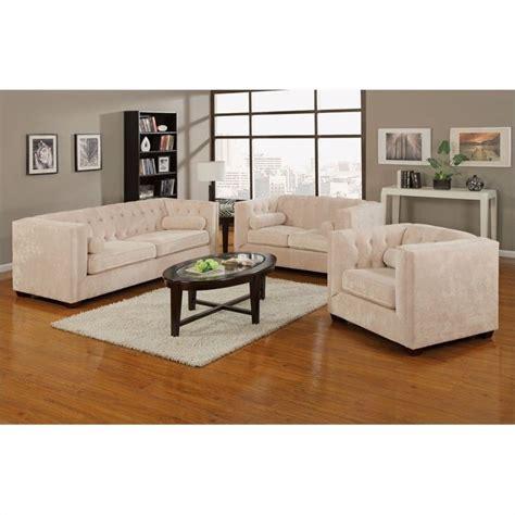 three piece sofa set coaster alexis 3 piece sofa set in almond 50439x 3pc pkg