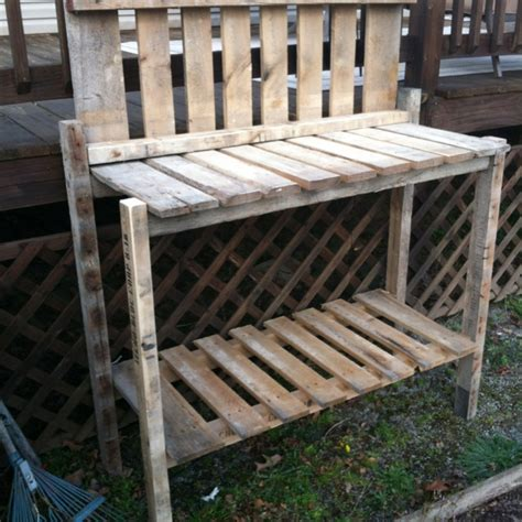 potting bench from pallets potting bench from pallets plants gardening pinterest