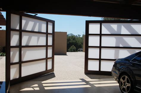 All Glass Garage Door View Glass Custom Garage Bi Parting Door Contemporary Garage Doors And Openers San