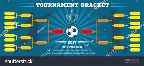 chionship banner template soccer banner european football tournament bracket stock