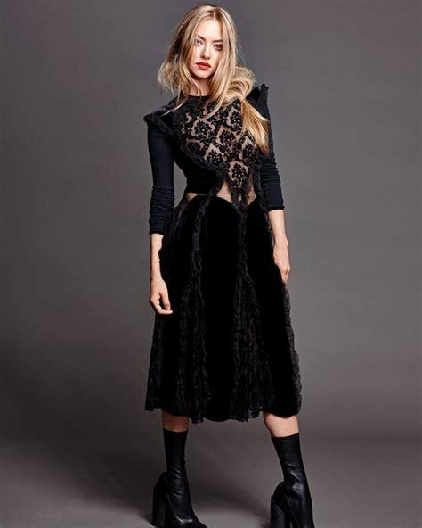 amanda seyfried boots dress midi dress amanda seyfried editorial lace dress