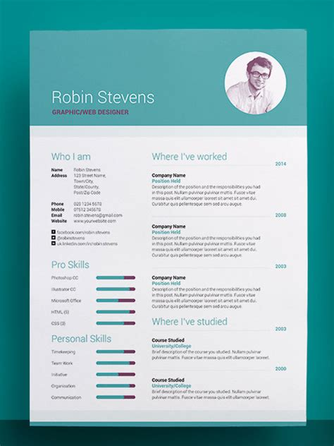 creative resume templates 50 awesome resume templates 2016