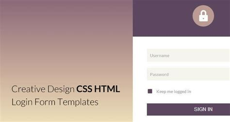 design html with css 25 elegant html css login form templates webdesignboom