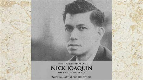 Biography Of Nick Joaquin | feu celebrates nick joaquin s 100th birthday with year