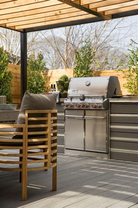 weber grill outdoor kitchen photos hgtv