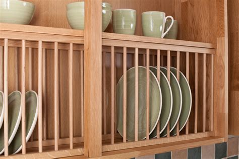 Best Accessories To Choose For Solid Oak Kitchen Cabinets Kitchen Cabinet Plate Rack Storage