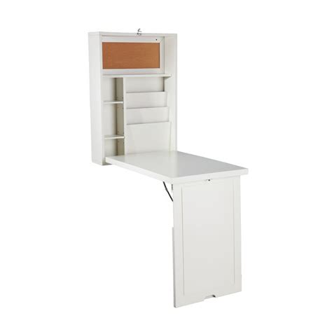Convertible Desk by Upton Home Murphy Winter White Fold Out Convertible Desk