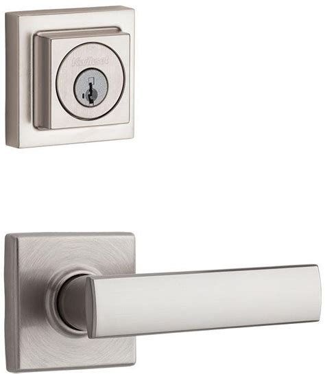 Exterior Door Lock Sets Smartkey Nickel Exterior Keyed Entry Door Knob Lever Key Deadbolt Lock Combo Set Ebay
