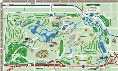 To St Forest by St Louis Forest Park Map