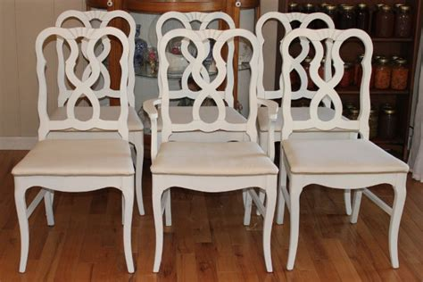 french country dining chairs painted white  newly