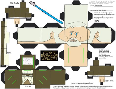 Wars Paper Craft - sw6 obi wan kenobi cubee by theflyingdachshund on deviantart