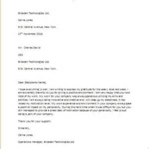 Thank You Letter To Boss After Salary Increase Formal Official And Professional Letter Templates Part 3