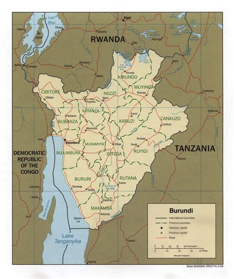 burundi map burundi maps perry casta 241 eda map collection ut library