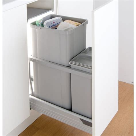 In Cupboard Bins by Wesco In Cupboard 42l Recycling Bin For 300mm Pull Out