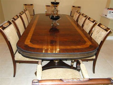 ej victor regency dining room table   chairs  sale