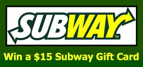 Subway Gift Card Giveaway - wednesday 15 subway gift card flash missiongiveaway