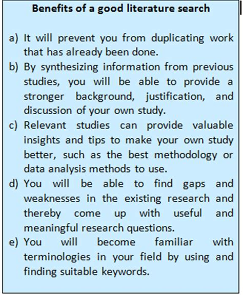 Tips For Choosing A Secondary Tips For Effective Literature Searching And Keeping Up