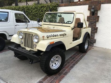 jeep cj golden eagle 1979 jeep cj7 golden eagle levi s edition repainted