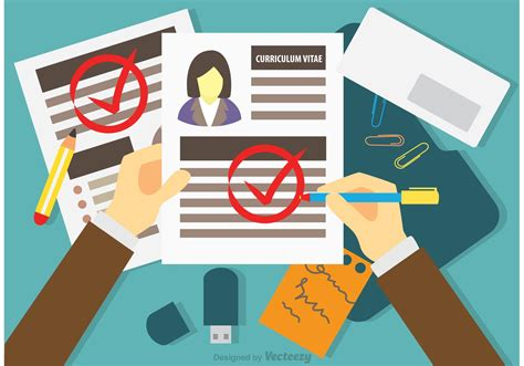 How To Create A Resume For A Job by Job Interview Concept Vector Download Free Vector Art