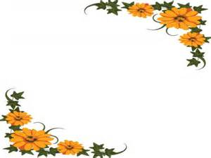 Flower Frame Template by Flower For Powerpoint Clipart Clipart Suggest