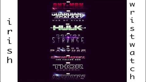 marvel film universe phase 4 wristwatch rants marvel cinematic universe phase 3 leak