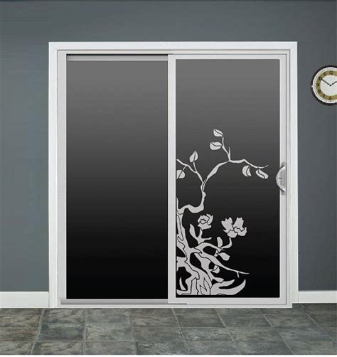 Decals For Glass Doors Tree Flower Glass Door Decals Sliding Door Decal Door Stickers