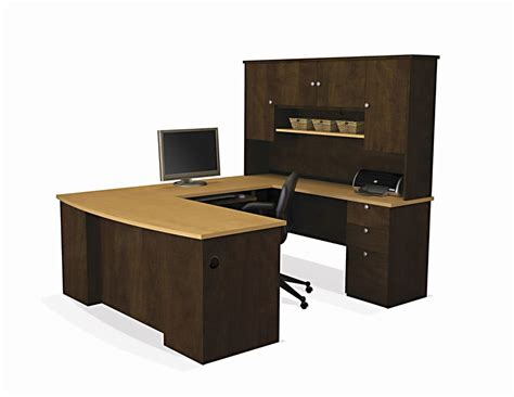 executive u desk set office furniture wood large computer