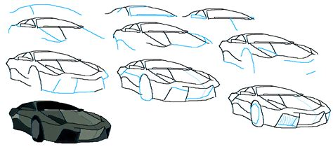 How Do You Draw A Lamborghini How To Draw A Lamborghini Reventon Techniques