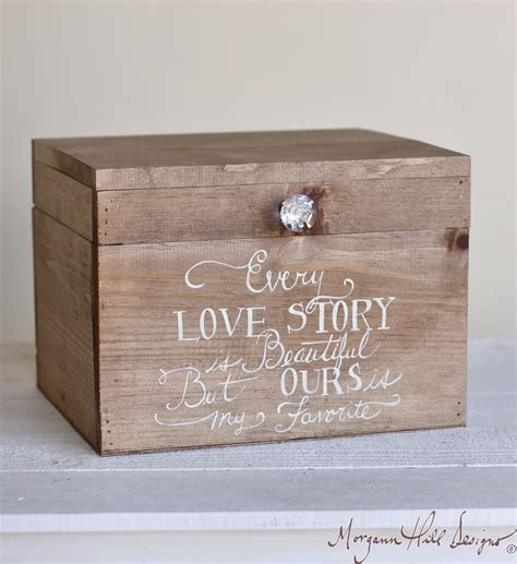 box wedding wedding card box rustic county barn story by braggingbags
