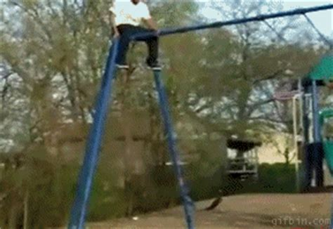 fat girl falls off swing fat chick jumps off swing best funny gifs updated daily