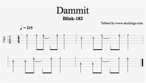 ukulele riffs tutorial dammit by blink 182 riff ukulele go