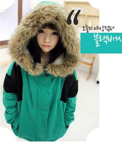 Jacket Crop Jaket Cewek Abg Kekinian Jaket Wanita Trendy asian siswa gadis cantik mantel katun tebal jaket 2014 musim dingin longgar hangat domba wol
