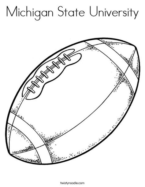 michigan football coloring page michigan state university coloring page twisty noodle
