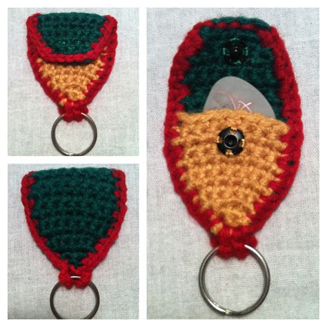 pattern crochet keychain this bee s honey guitar pick holder keychain free