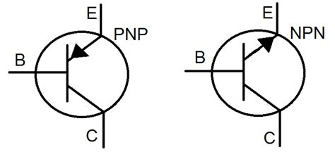 transistor npn simbol electronic components transistor