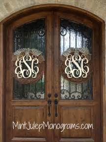 Front Door Initials Wooden Monogram Mint Julep Monograms