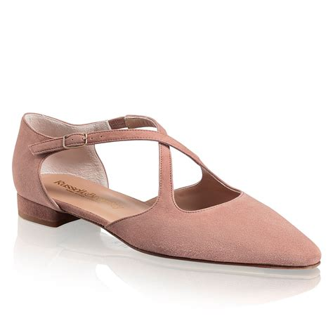 and bromley shoes xpresso crossover flat in pink suede bromley